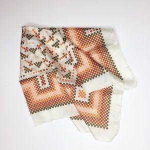 RARE beautiful vintage Italian scarf. Orange brown